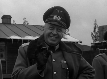 The commandant addresses the POWs