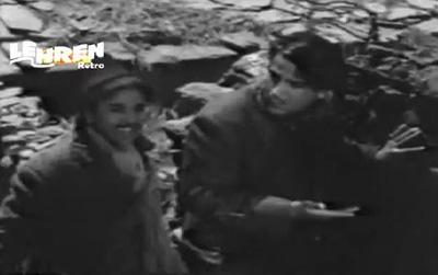 Shammi Kapoor and Geeta Bali in Rangeen Raatein