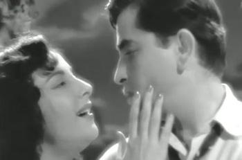 Nargis and Raj Kapoor in Chori-Chori