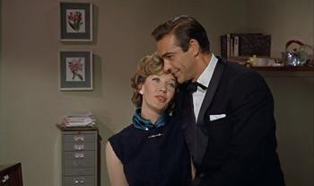 Bond stops off to meet Moneypenny...