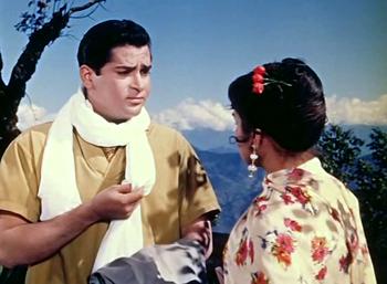 Shammi Kapoor and Kalpana in Professor