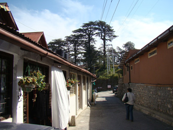 In Sisters Bazaar, Landour. The long building on the right was once owned by Dev Anand.