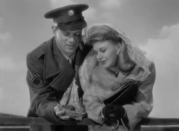 "Joseph Cotten and Ginger Rogers in I""ll Be Seeing You"