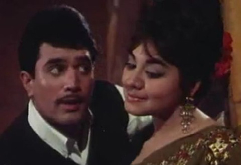 Rajesh Khanna with Farida Jalal in Aradhana
