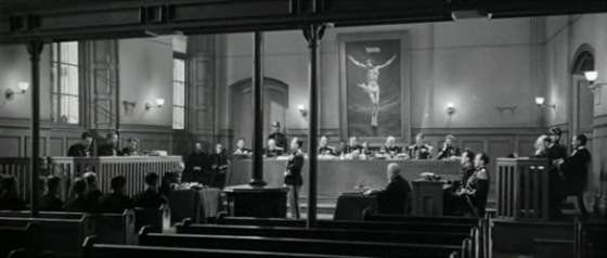 In the courtroom: a crucifix