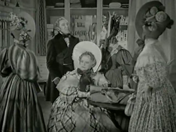 The ladies see a carriage