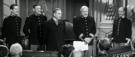 Mercier and Sandherr address the officers