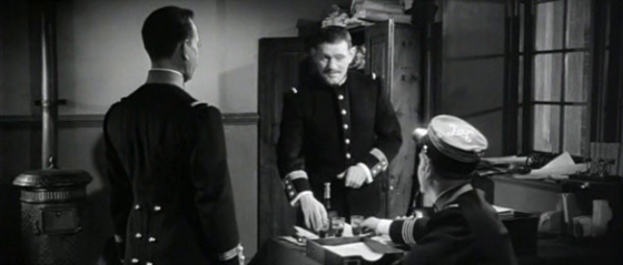 Henry entertains Esterhazy and Dreyfus