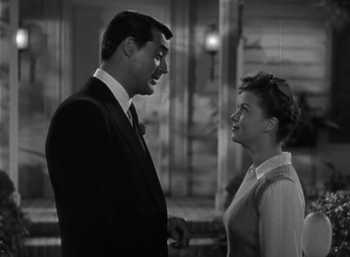 Cary Grant and Shirley Temple as and in The Bachelor and the Bobby-Soxer