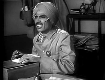 Kanhaiyya, at work as postman