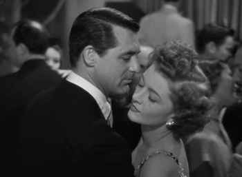 Cary Grant and Myrna Loy in The Bachelor and the Bobby-Soxer