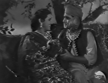 Noorjehan and Trilok Kapoor in Mirza Sahiban