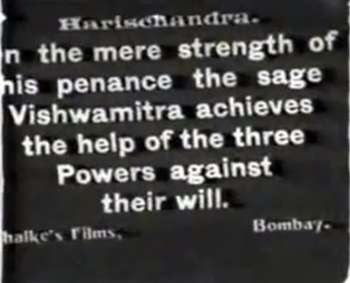 An intertitle from the film