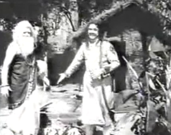 Harischandra offers his kingdom to Vishwamitra