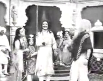 Vishwamitra orders Harischandraa & Co. to get the dakshina