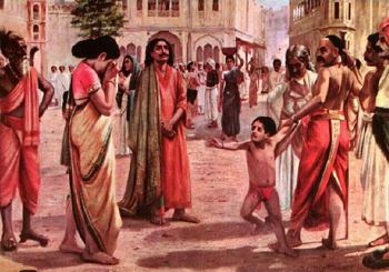 Harishchandra in Distress, by Raja Ravi Varma