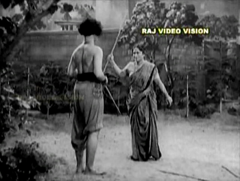 Ramu's mother shoos him from the garden