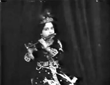 Mandakini Phalke as Krishna in Kaliya Mardan