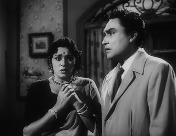 Ashok Kumar and Padmini in Kalpana