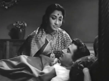 Mala Sinha with Guru Dutt in Bahurani
