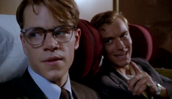 Matt Damon and Jude Law in The Talented Mr Ripley