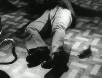 A man falls dead