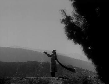 A woman on the horizon