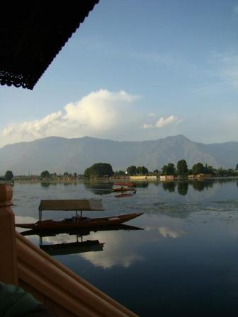 A view of the mountains and lakes in Kashmir.