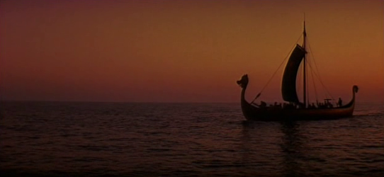 A frame from The Long Ships