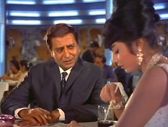 Pran with Rajshree in Brahmachari