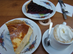 Alsatian desserts and coffee