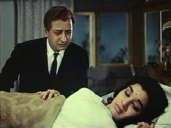 Pran with Asha Parekh in Do Badan