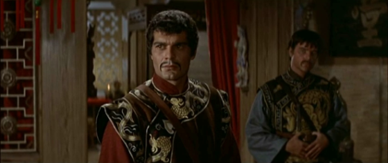 Omar Sharif in and as Genghis Khan