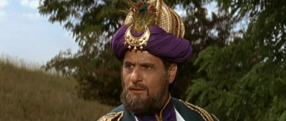 Eli Wallach as the Shah of Khwarezm
