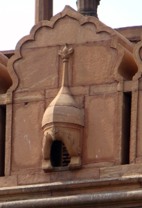 A damaaga at Red Fort