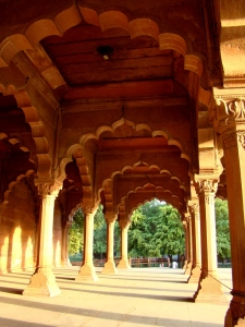 Inside the Red Fort: the Diwaan-e-Aam.