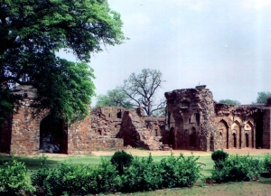 Part of the ruins at Firoz Shah Kotla, from where material was obtained for use in the Red Fort.
