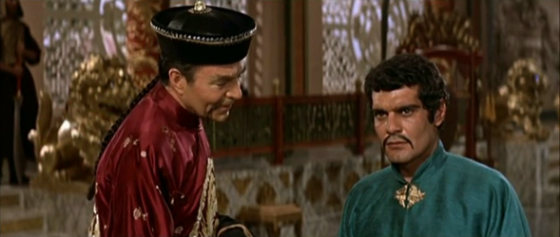 Omar Sharif and James Mason in Genghis Khan