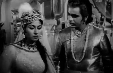 Madhubala and Dilip Kumar in Mughal-e-Azam