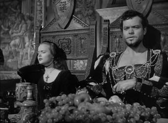 Orson Welles as Cesare Borgia in Prince of Foxes