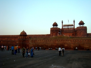Looking towards the Lahore Darwaza of the Red Fort.
