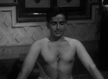Shashi Kapoor as Dilip, the 'dharmputra'