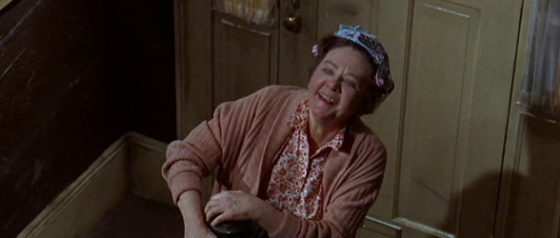 Charly's landlady, Mrs Apple