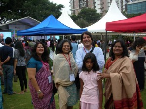 With friends - Shikha Malaviya and Piyush Jha, on Day 2 of the fest