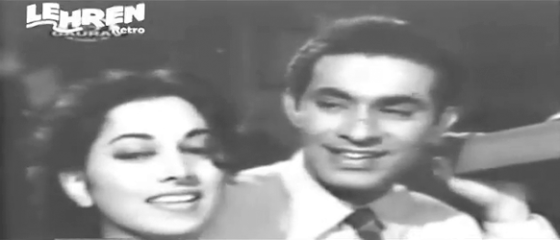 Talat Mahmood and Suraiya in Waaris