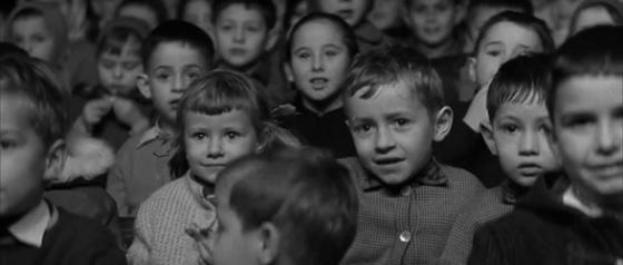Children at a puppet show