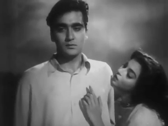 Sunil Dutt and Sheila Ramani in Railway Platform