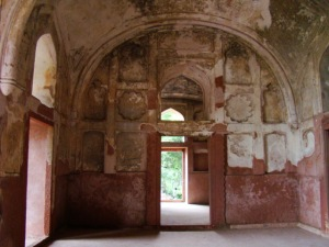 A view of the interior of the dalaan.