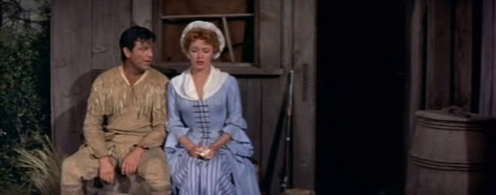 Eleanor Parker with Robert Taylor in Many Rivers to Cross
