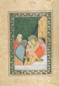 An 18th century Mughal miniature, from during the reign of Mohammad Shah 'Rangeela', of the Madonna and Child.